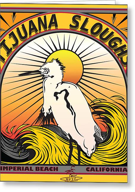 Tijuana Sloughs Imperial Beach California Greeting Card by Larry Butterworth