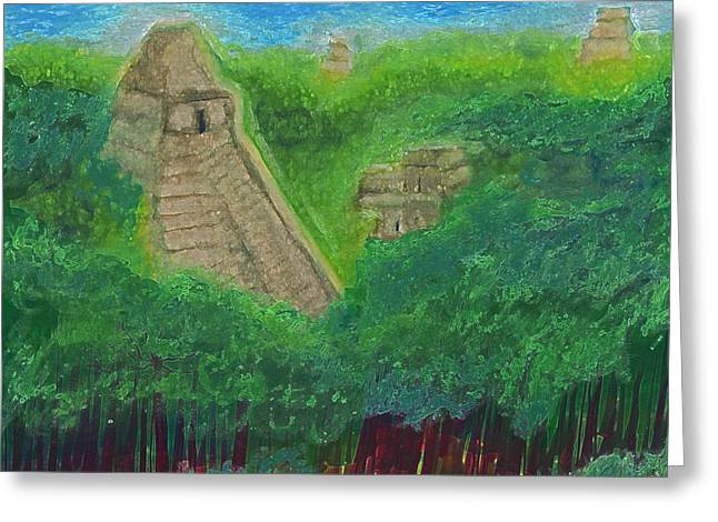Tikal 2 By Jrr Greeting Card by First Star Art