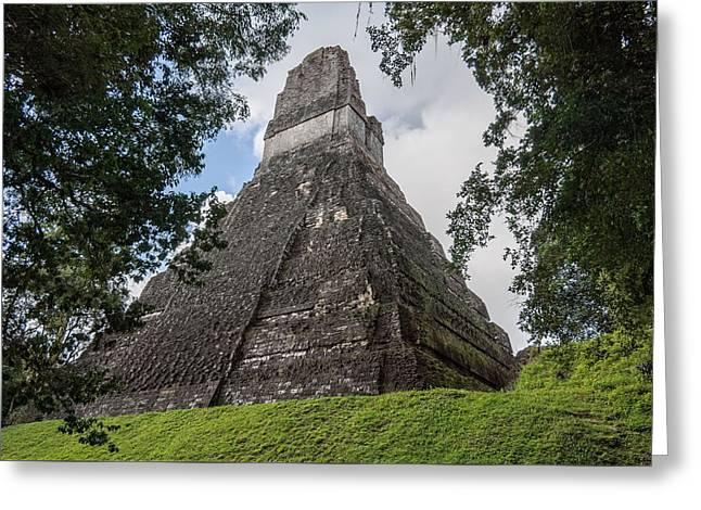 Tikal Pyramid 1b Greeting Card