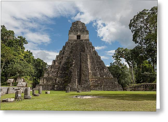 Tikal Pyramid 1j Greeting Card