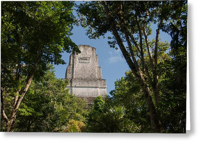 Tikal Pyramid 4b Greeting Card
