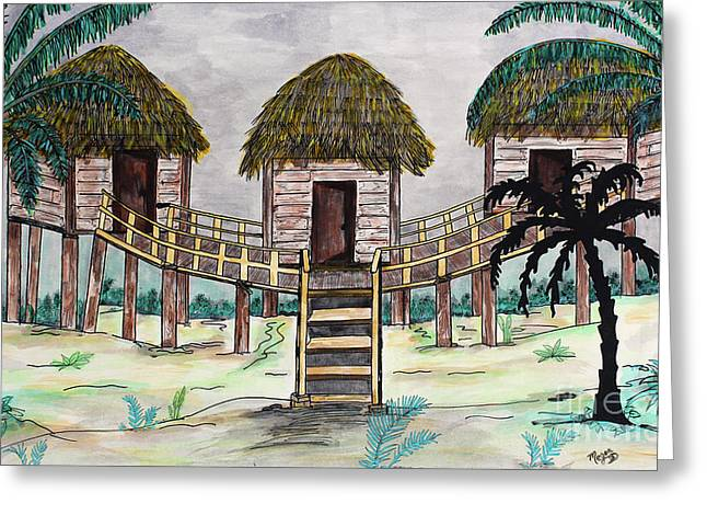 Tiki Island Greeting Card