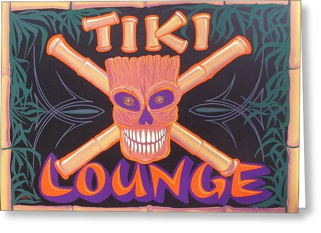 Tiki Lounge Greeting Card