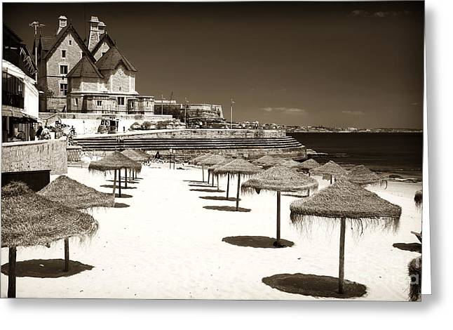 Tiki's In Cascais Greeting Card by John Rizzuto