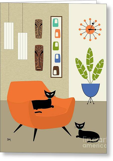 Tikis On The Wall Greeting Card