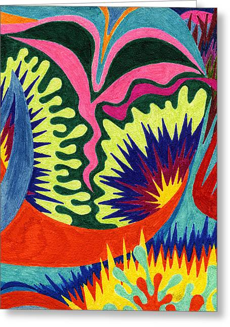 Tile 36 - The Georgia O'keeffe Incident  Greeting Card by Sean Corcoran