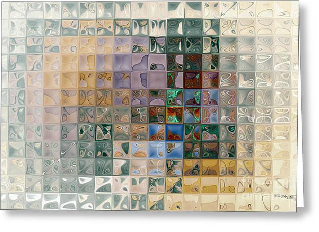 Tile Art 7 2012 Greeting Card by Mark Lawrence