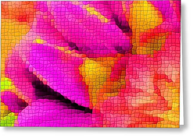 Tiled Dahlia Greeting Card