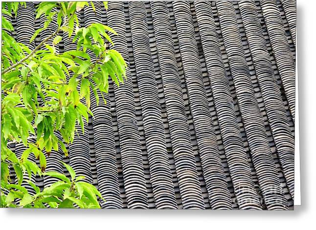Greeting Card featuring the photograph Tiled Roof by Ethna Gillespie