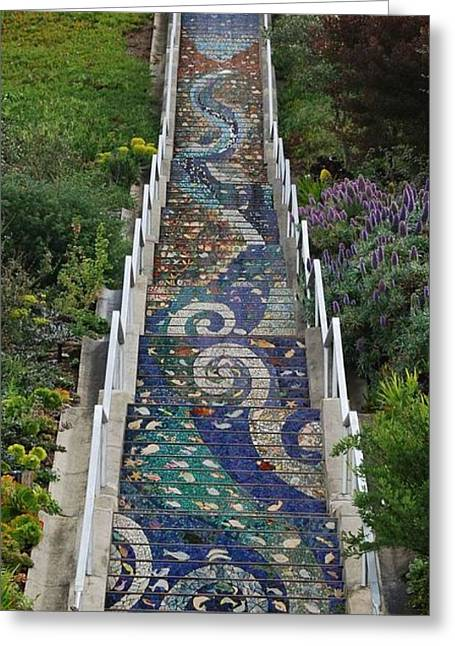 Tiled Steps Greeting Card
