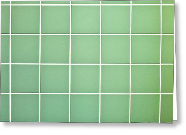 Tiles Background Greeting Card by Tom Gowanlock