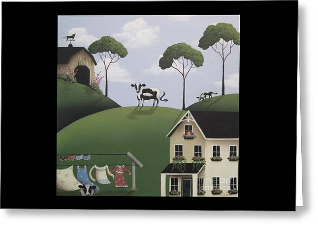 Till The Cows Come Home Greeting Card by Catherine Holman
