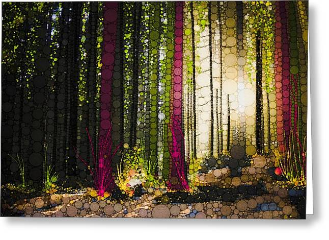 Till The Wood Greeting Card by Steven Boland