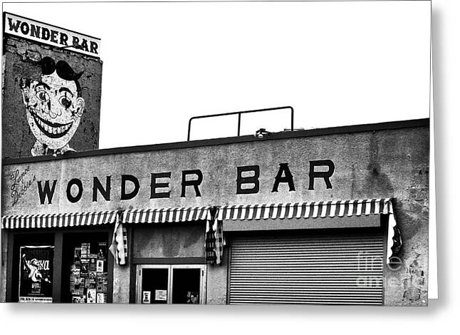 Tillie At The Wonder Bar Greeting Card by John Rizzuto