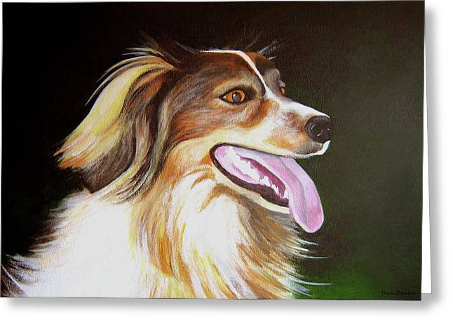 Greeting Card featuring the painting Tillie by Janice Dunbar