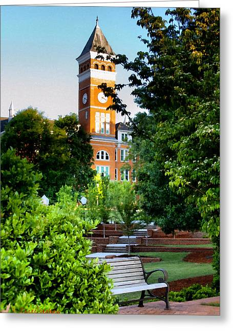 Tillman Hall Early Morning Greeting Card by Lynne Jenkins