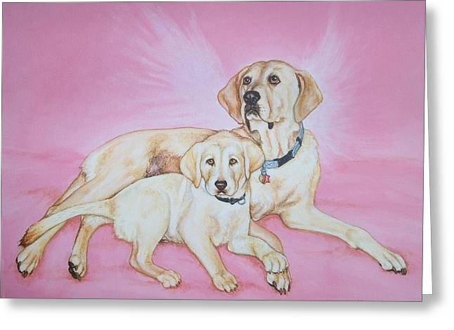 Tilly And Forrest Greeting Card by Beth Clark-McDonal