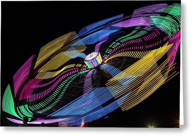 Greeting Card featuring the photograph Tilt A Whirl by Steven Bateson