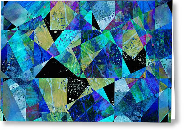 Tilt In Blue - Abstract - Art Greeting Card by Ann Powell