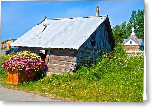 Tilted Shed In Old Town Kenai-ak Greeting Card by Ruth Hager