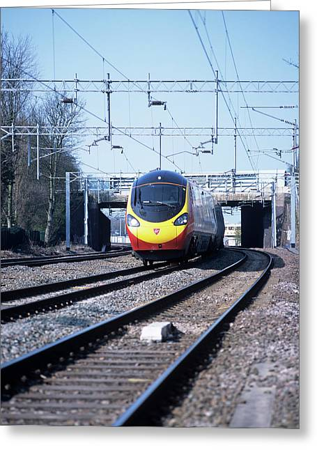 Tilting Train Greeting Card
