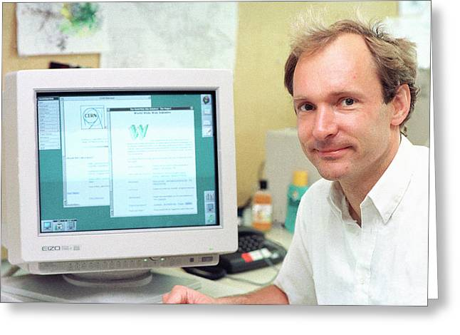 Tim Berners-lee Greeting Card