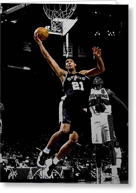 Tim Duncan All Star Game Greeting Card by Brian Reaves