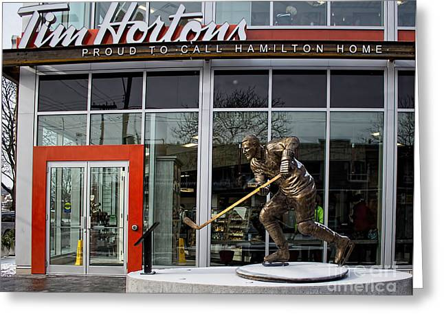 Tim Hortons Museum Greeting Card by Barbara McMahon