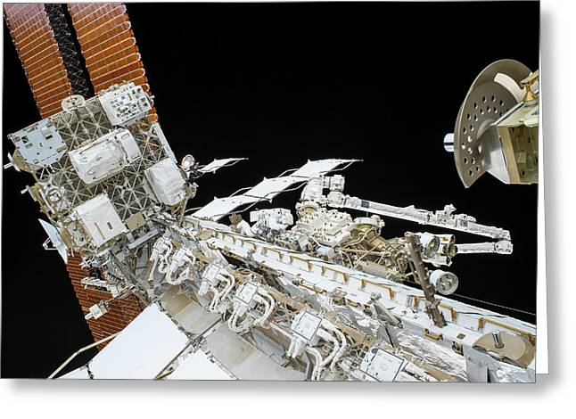 Tim Kopra's Spacewalk Greeting Card by Nasa