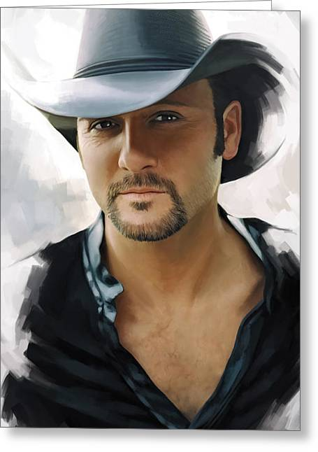 Tim Mcgraw Artwork Greeting Card