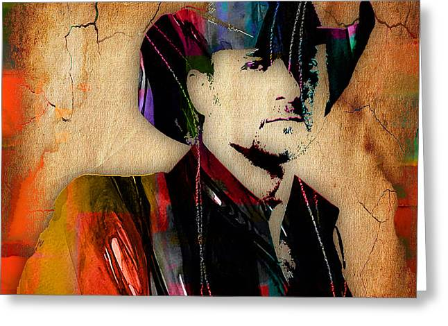 Tim Mcgraw Collection Greeting Card by Marvin Blaine