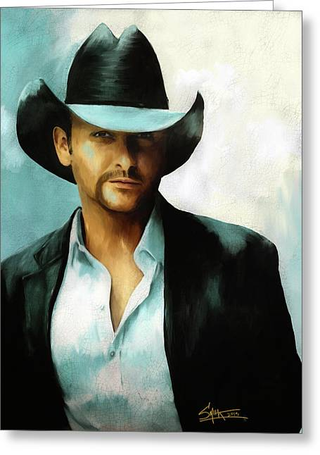 Tim Mcgraw Greeting Card