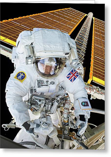 Tim Peake's Spacewalk Greeting Card