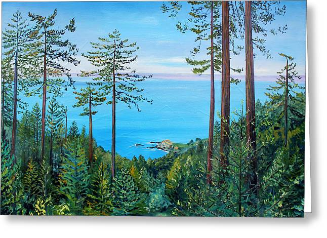 Timber Cove On A Still Summer Day Greeting Card
