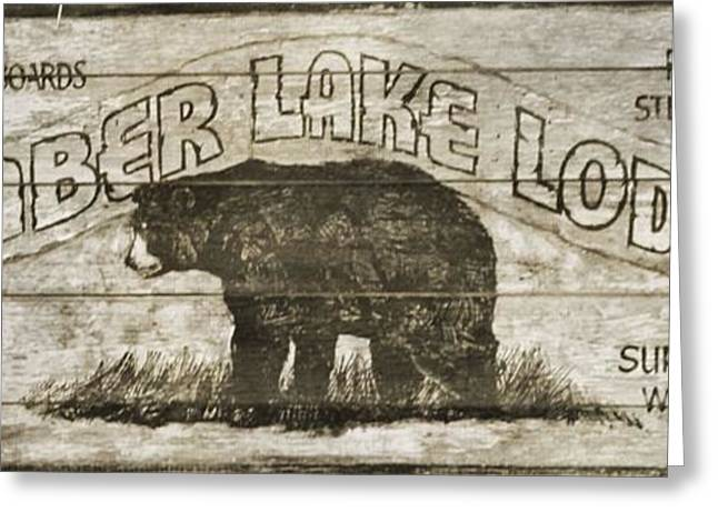 Timber Lake Lodge Greeting Card by Dan Sproul