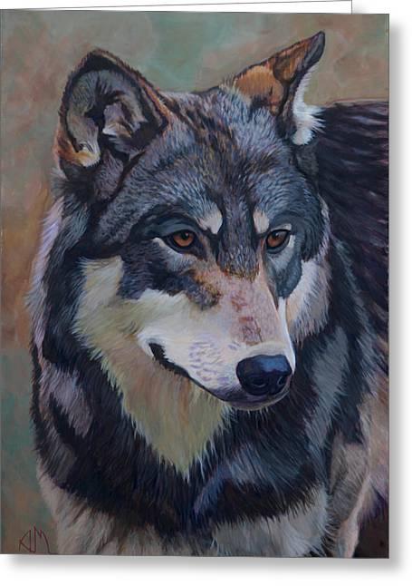 Timber Wolf _motomo Greeting Card