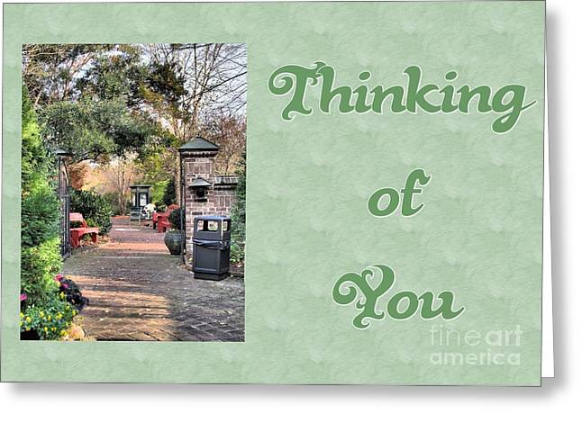 Greeting Card featuring the digital art Timberlake Path Thinking Of You by JH Designs