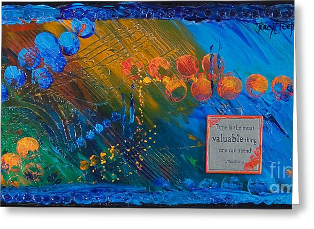 Time Abstract Greeting Card by Tracy L Teeter