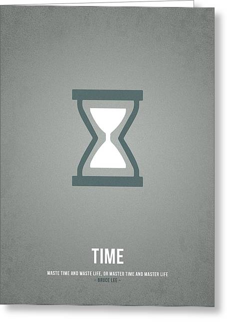 Time Greeting Card by Aged Pixel