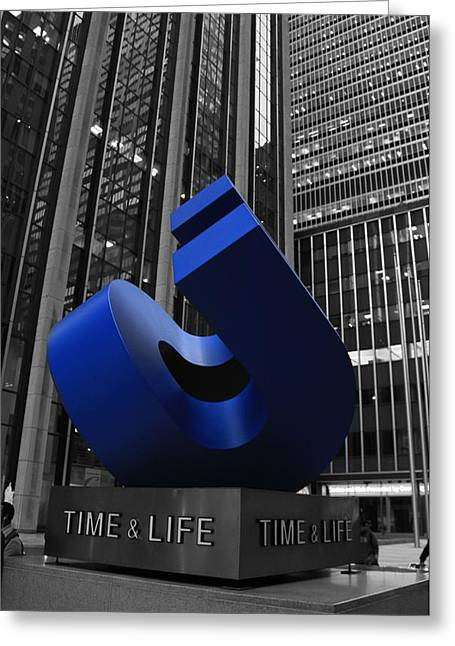 Time And Life Building In New York City Greeting Card by Dan Sproul