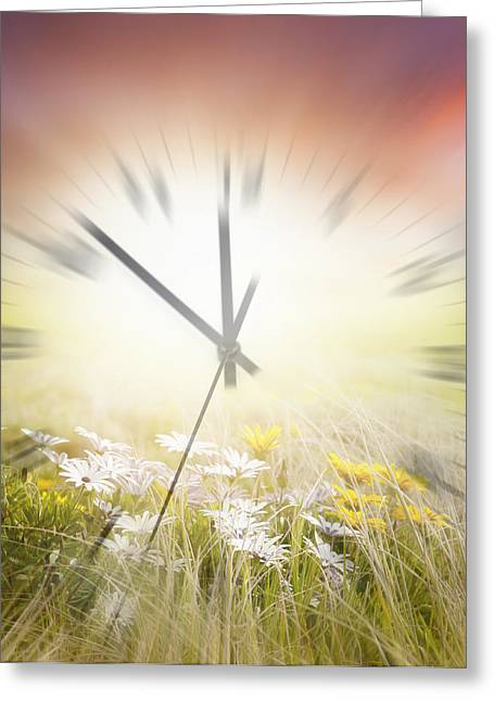 Time Blurred Greeting Card by Les Cunliffe