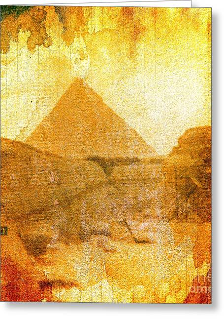 Time Fears The Pyramids Greeting Card