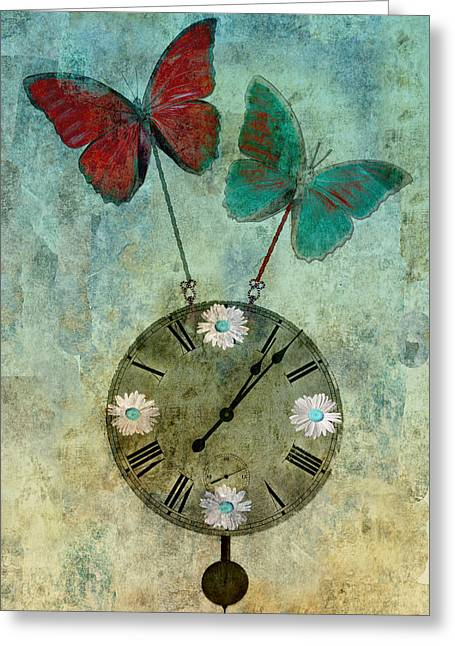 """aimelle Prints"" Greeting Cards - Time Flies Greeting Card by Aimelle"