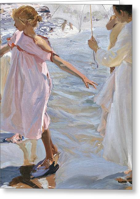 Time For A Bathe Valencia Greeting Card by Celestial Images