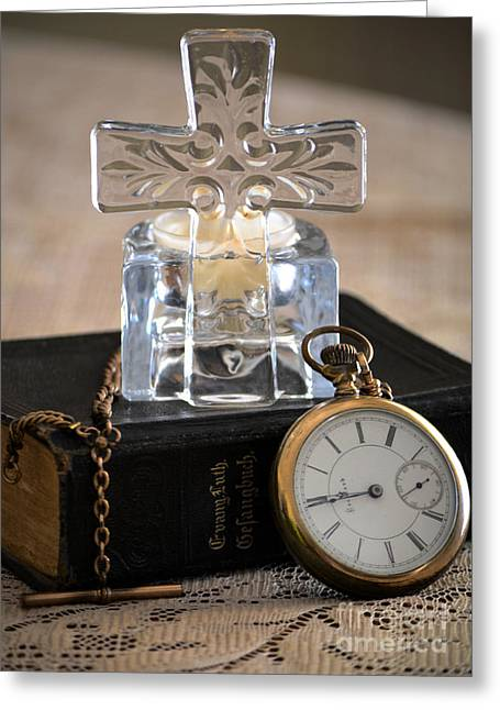 Time For God Greeting Card by Deb Halloran