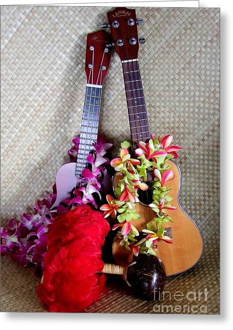 Time For Hula Greeting Card by Mary Deal