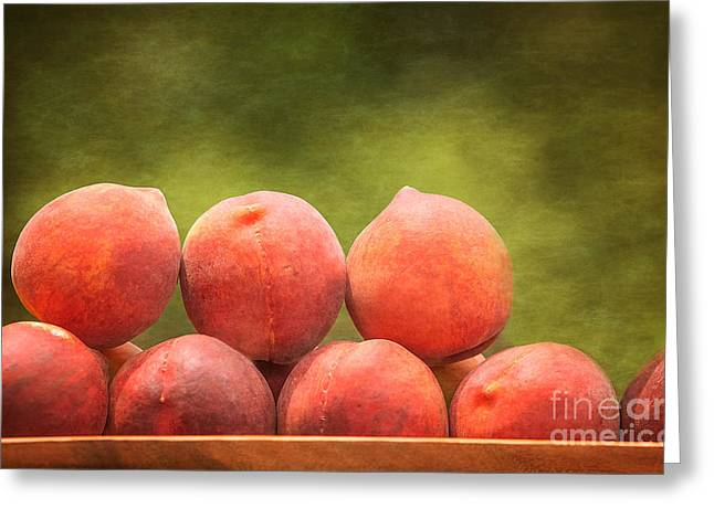 Time For Peaches Greeting Card by Kim Henderson