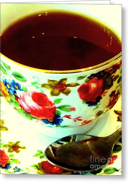 Time For Tea Greeting Card by C Lythgo