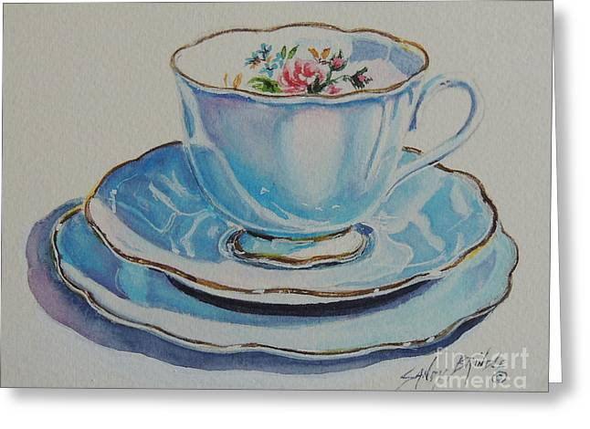 Time For Tea Sold Greeting Card