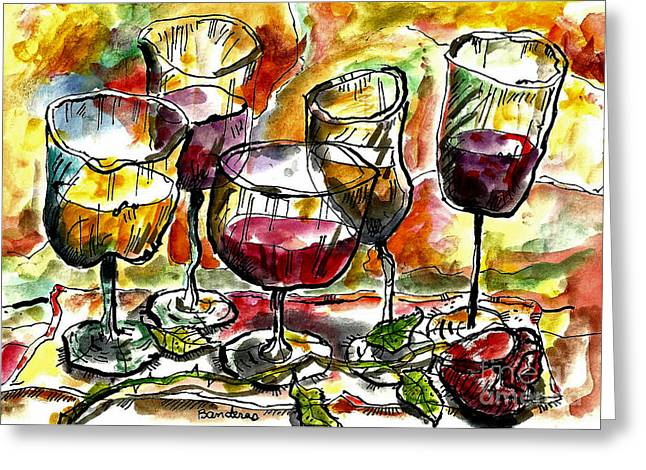 Time For Wine Tasting Greeting Card